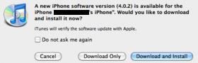 آبل تصدر التحديث 4.0.2 للآي-فون وتصلح الثغرة الأمنية
