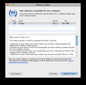 ترقية برنامج أيتيونز للإصدار 10.1.1