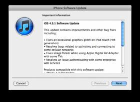 تحديث جديد لنظام iOS ليصبح الإصدار 4.3.1