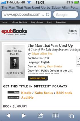 الان يمكنك فتح ملفات ePub من خلال صفحات الويب