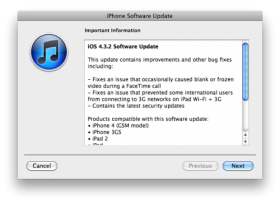 تحديث جديد لنظام iOS ليصبح الإصدار 4.3.2