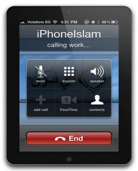 تحويل الأي-باد الى هاتف اصبح حقيقة