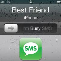 برنامج I'm busy sms يرسل رسالة نصية للمتصل يخبره انك مشغول