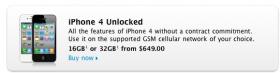 أبل تبيع الآي-فون 4 في في الولايات المتحدة مفتوحاً على جميع الشبكات