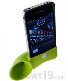 حامل أي-فون هورن يقوي الصوت بدون حاجة لاستهلاك الطاقة