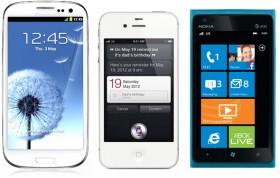 جالاكسي S3 والآي-فون 4S ولوميا 900 وجهاً لوجهه من ينتصر؟