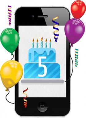 الآي فون يحتفل بعيد ميلاده الخامس وتحقيق ربع مليار جهاز مبيعات