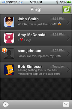 برنامج Ping للمحادثة بخاصية الإشعارات – في متجر البرامج