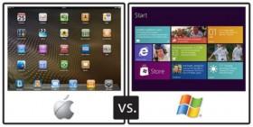 ويندوز 8 قادم لينافس بقوة في عالم الأجهزة اللوحية، فهل يمكن مقارنته مع نظام iOS ؟