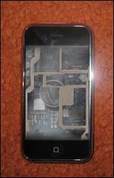 عملة معدنية داخل الهاتف