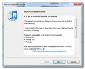 تحديث iOS الفيرموير 4.0.1 للأي-فون, والفيرموير 3.2.1 للأي-باد