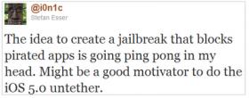 الجيلبريك القادم لنظام iOS 5 سيمنع برامج تنزيل الكراك من العمل