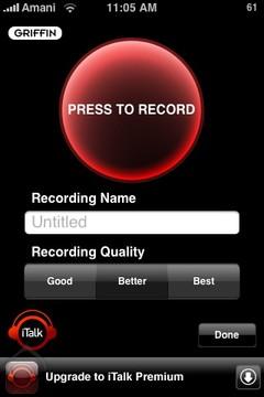 برنامج iTalk Recorder في متجر البرامج