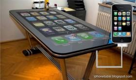 مشروع آي-فون ضخم على شكل طاولة