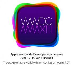 إعلان أبل عن مؤتمر WWDC 2013 من 10-14 يونيو