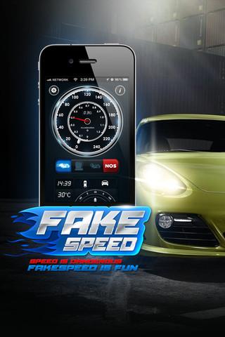 تطبيق FakeSpeed لسباق السيارات تطبيق