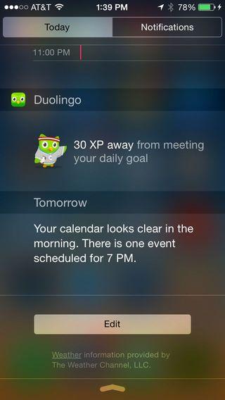 Duolingo-widget
