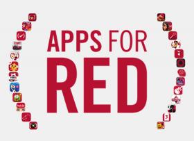 سر اللون الأحمر في تطبيقات ومتاجر أبل
