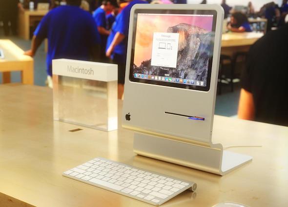 تصور لـ iMac يحاكي جيل ماكنتوش الأول