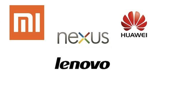 2014,2015 Xiaomi-Nexus-Lenovo-