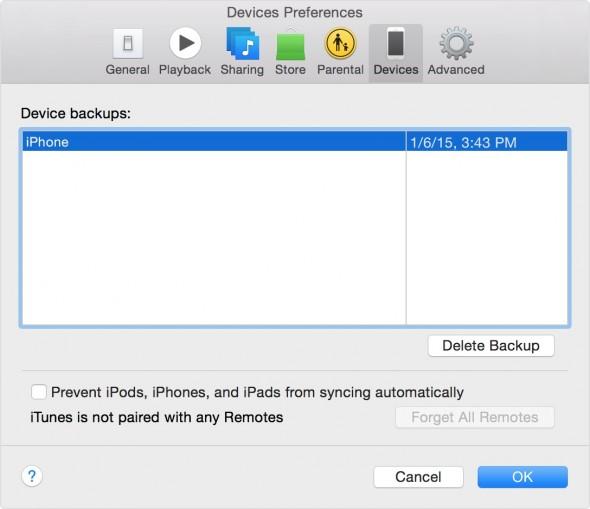 backedup devices