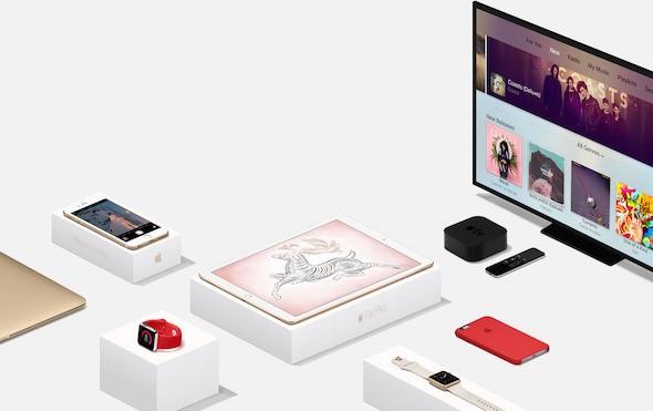 Apple iPhone iPad Mac TV