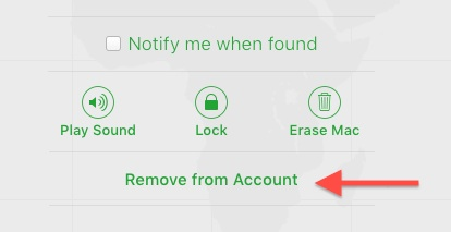 Remove From Account