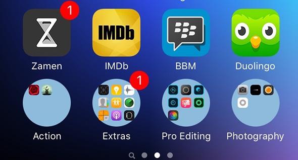 round folders, iOS 9