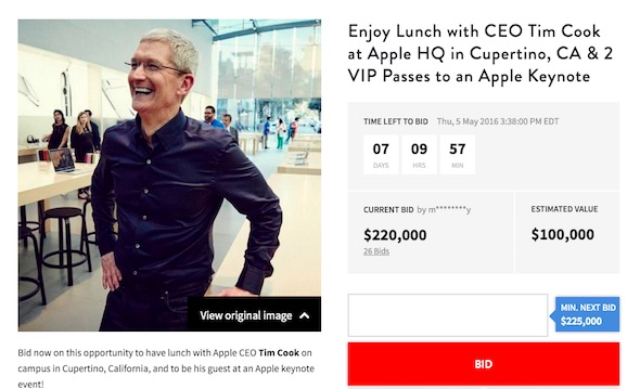 Tim Cook Bit Lunch