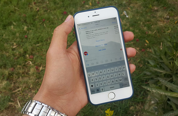 messenger bot on iPhone 6/ held