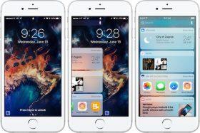 الشاشة الرئيسية ومركز الإشعارات في iOS 10