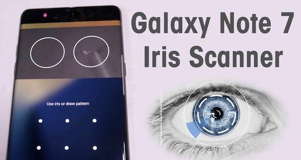 Iris Scan Note 7 Samsung