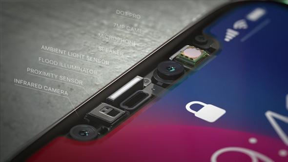 3ec49b748 لا يوجد مستشعرات جديدة في الآي فون X كما ظن البعض، وانما كاميرا الآي فون  الأمامية هي التي تضم تقنية استشعار العمق.