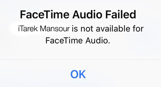 Facetime Audio China