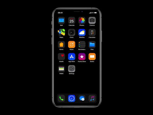 تصمصم تخيلي لما سيبدو عليه iOS 13