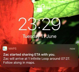 الخرائط في iOS 13 أصبح يتيح لك مشاركة الوقت المتوقع للوصول مع أصدقائك